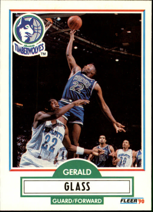 1990-91 Fleer Update #U56 Gerald Glass RC