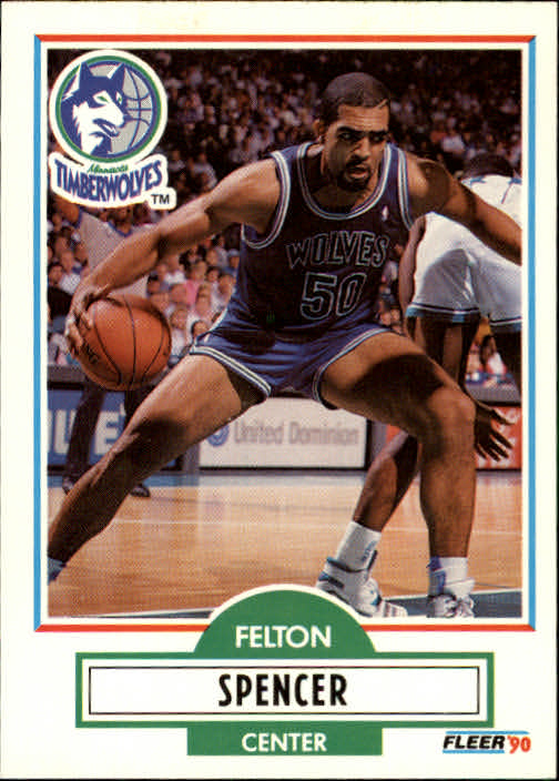 1990-91 Fleer Update #U57 Felton Spencer RC