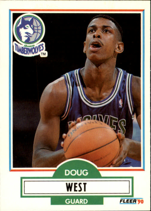 1990-91 Fleer Update #U58 Doug West RC