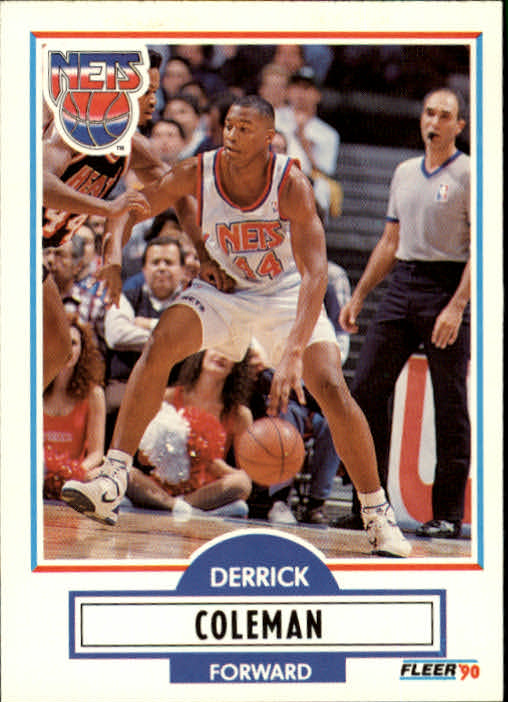 1990-91 Fleer Update #U60 Derrick Coleman RC