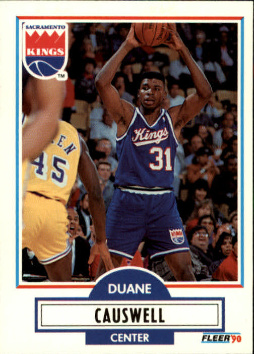 1990-91 Fleer Update #U83 Duane Causwell RC