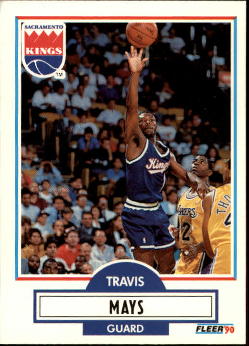 1990-91 Fleer Update #U86 Travis Mays RC