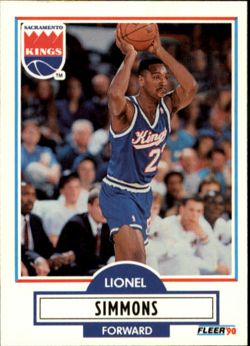 1990-91 Fleer Update #U87 Lionel Simmons RC