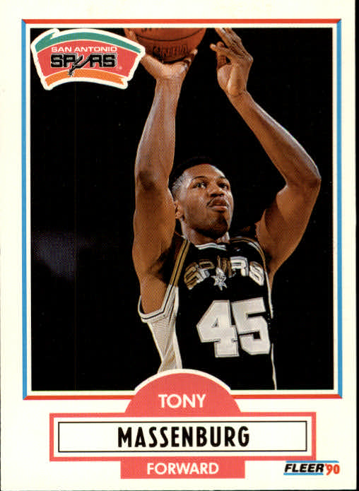 1990-91 Fleer Update #U89 Tony Massenburg