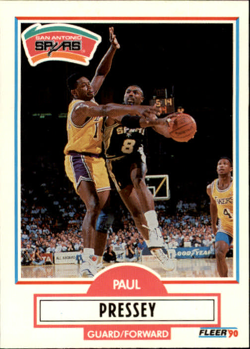 1990-91 Fleer Update #U90 Paul Pressey