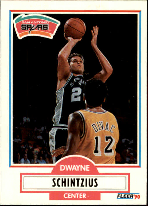 1990-91 Fleer Update #U91 Dwayne Schintzius RC