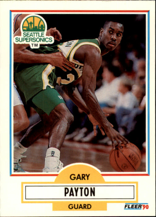 1990-91 Fleer Update #U92 Gary Payton RC