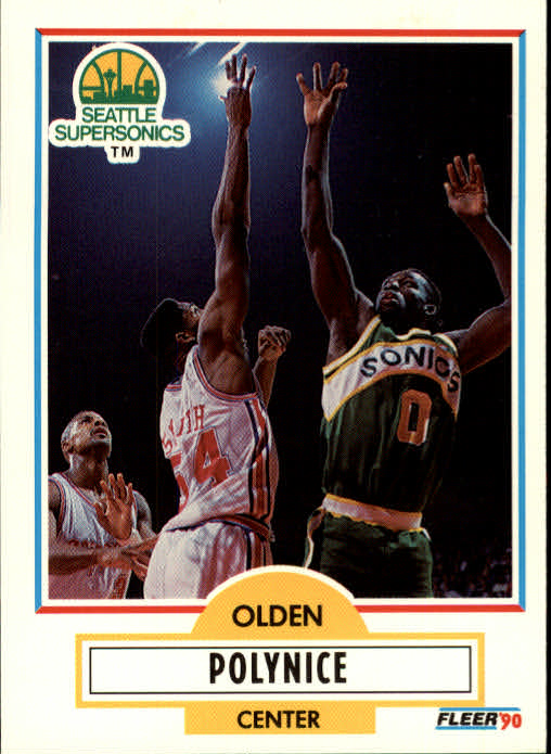 1990-91 Fleer Update #U93 Olden Polynice