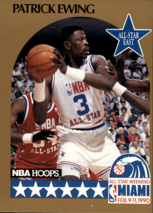 1990-91 Hoops #4 Patrick Ewing AS SP UER/(A-S blocks listed as 1, should be 5)
