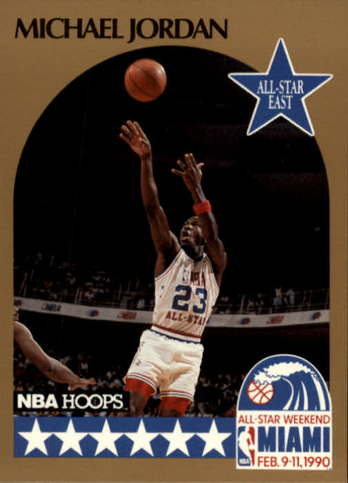 1990-91 Hoops #5 Michael Jordan AS SP UER/(Won Slam Dunk in/'87 and '88, not '86 and '88)