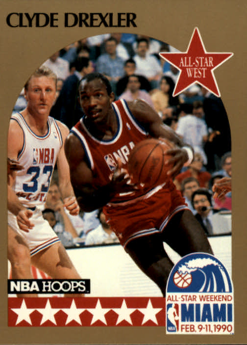 1990-91 Hoops #16 Clyde Drexler AS SP