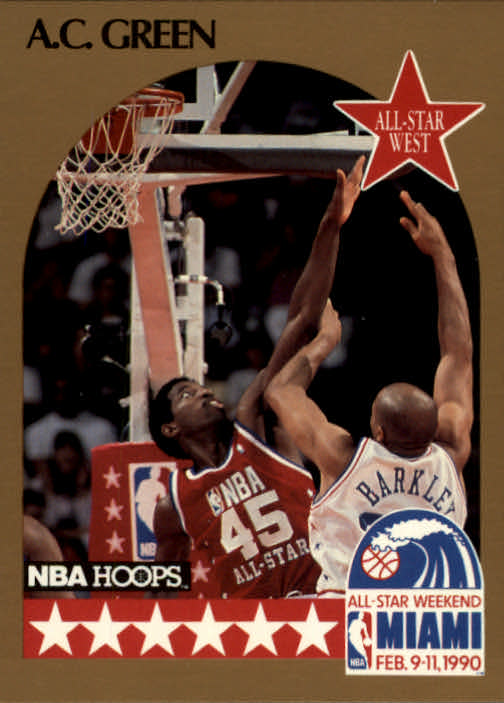 1990-91 Hoops #17 A.C. Green AS SP