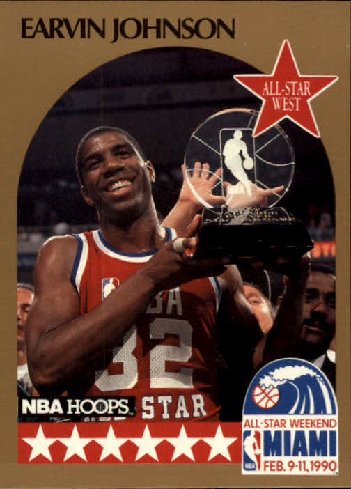 1990-91 Hoops #18 Magic Johnson AS SP