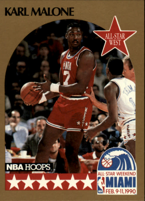 1990-91 Hoops #21 Karl Malone AS SP