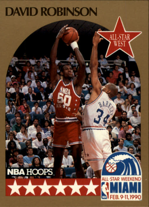 1990-91 Hoops #24 David Robinson AS SP