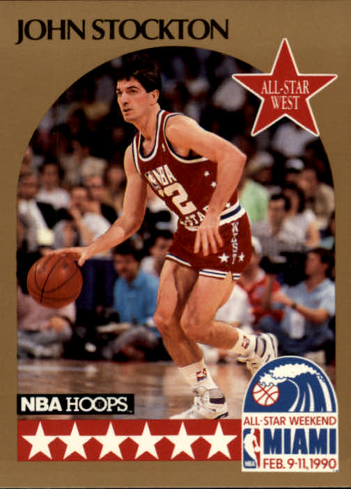 1990-91 Hoops #25 John Stockton AS SP