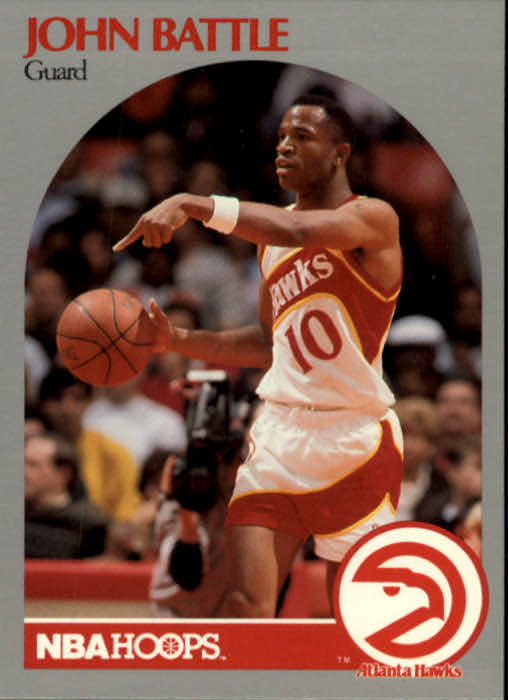 1990-91 Hoops #27 John Battle