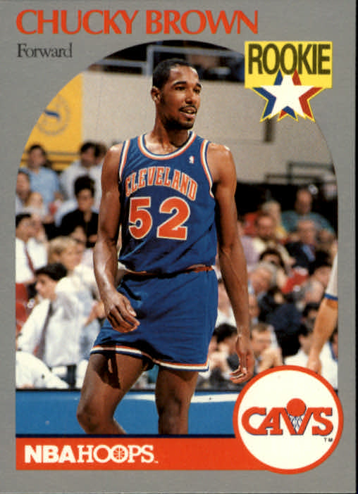 1990-91 Hoops #71 Chucky Brown RC