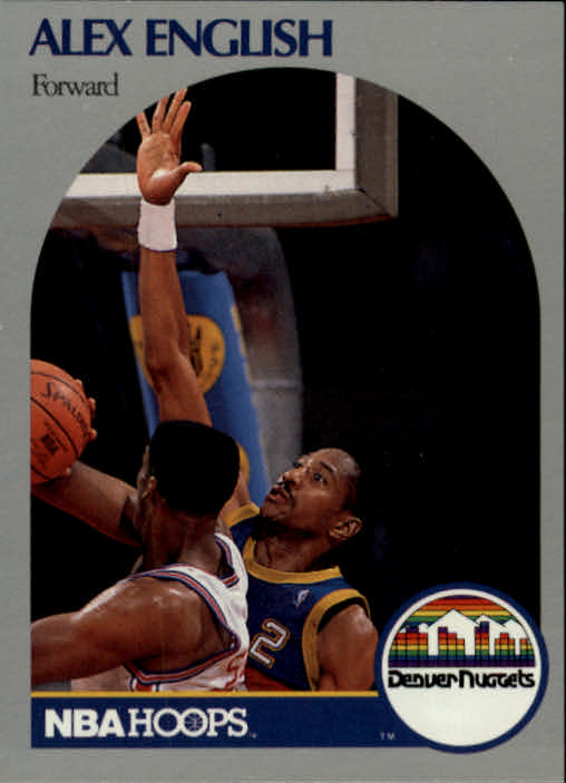 1990-91 Hoops #94 Alex English SP