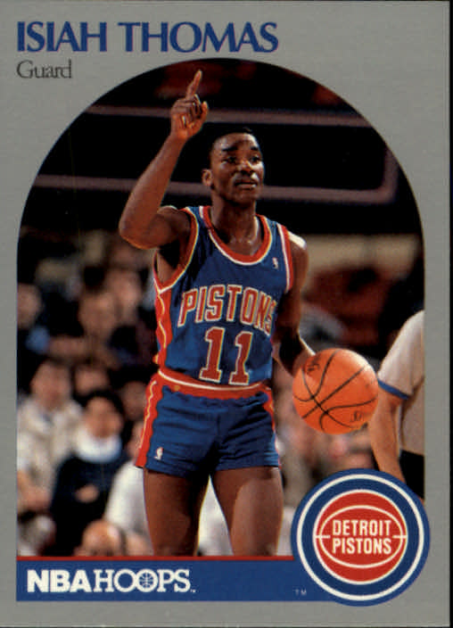 1990-91 Hoops #111 Isiah Thomas UER/(No position listed on the card)