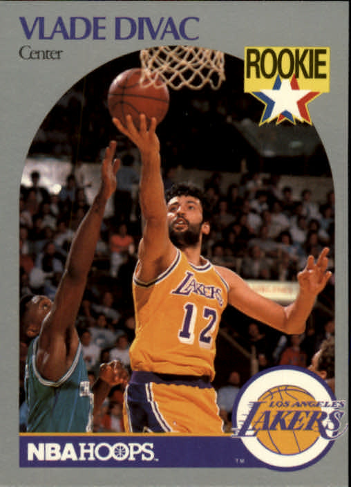 1990-91 Hoops #154 Vlade Divac UER RC/(Height 6'11, should be 7'1)