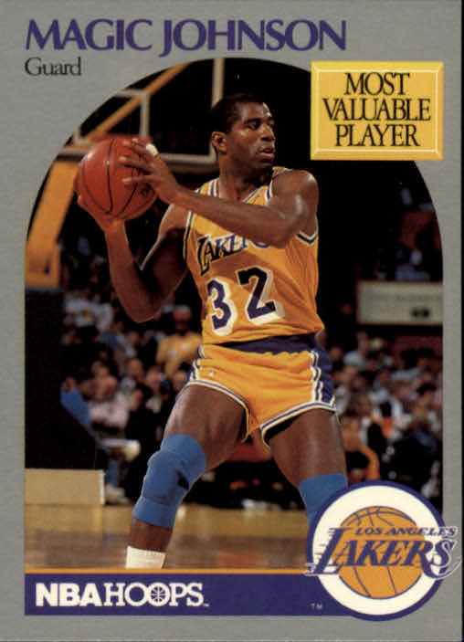 1990-91 Hoops #157 Magic Johnson