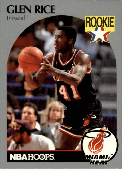 1990-91 Hoops #168 Glen Rice RC