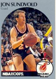 1990-91 Hoops #172B Jon Sundvold