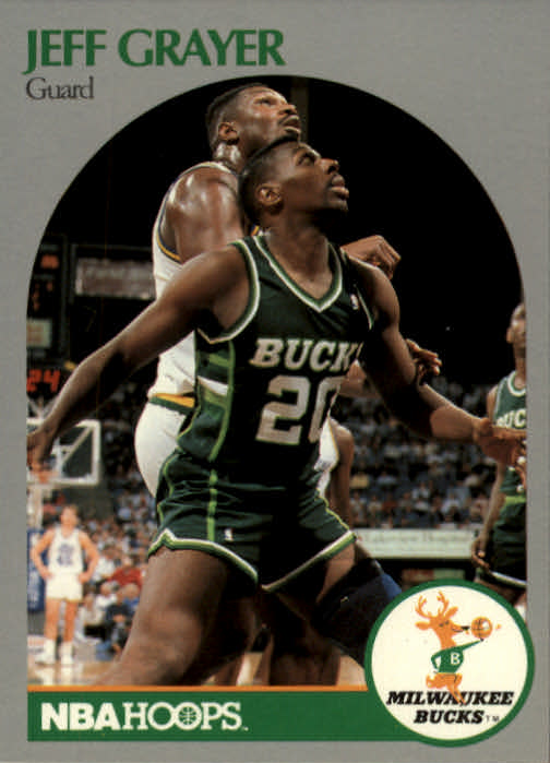 1990-91 Hoops #174 Jeff Grayer RC
