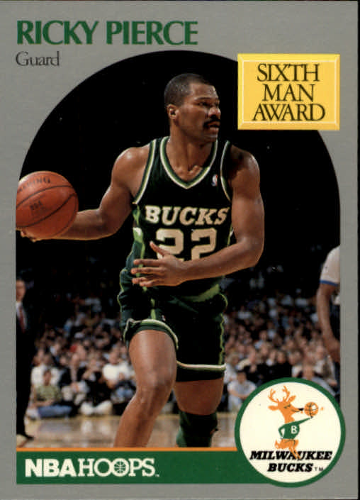 1990-91 Hoops #179 Ricky Pierce