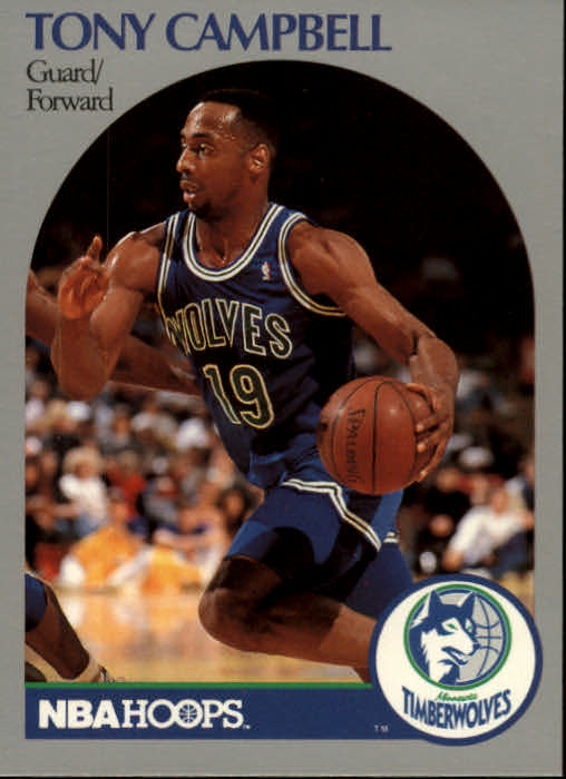 1990-91 Hoops #185 Tony Campbell