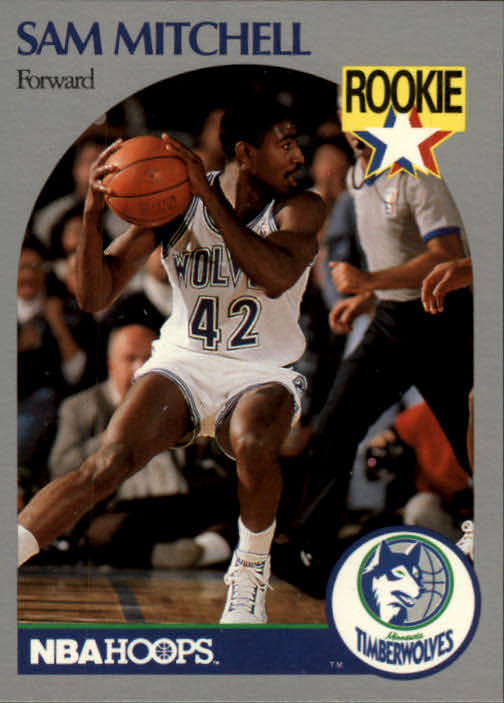 1990-91 Hoops #188 Sam Mitchell RC
