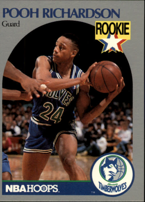 1990-91 Hoops #190 Pooh Richardson RC