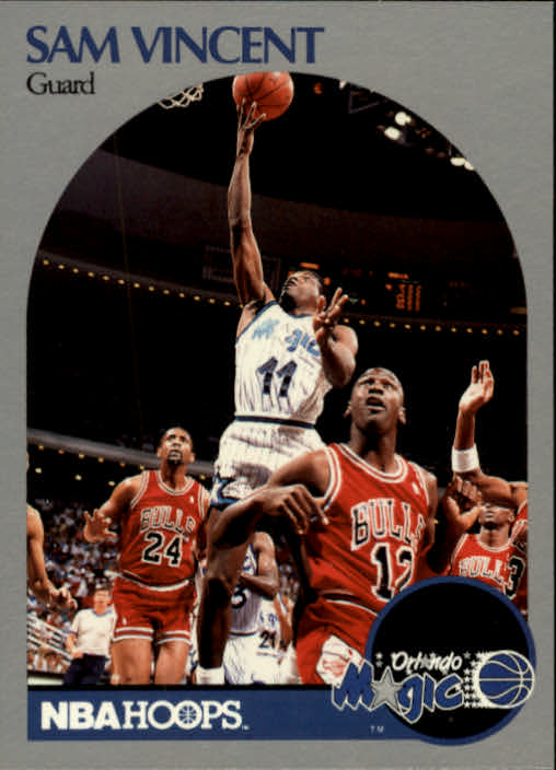 1990-91 Hoops #223A Sam Vincent/(Shows Michael Jordan)