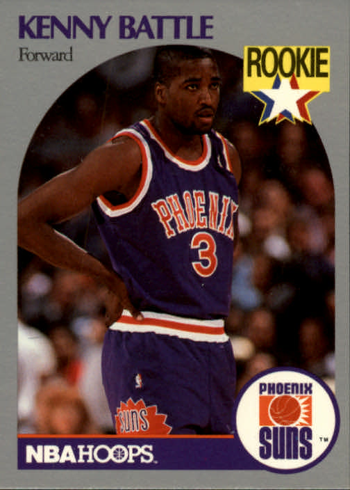 1990-91 Hoops #233 Kenny Battle RC