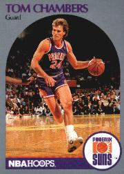 1990-91 Hoops #234B Tom Chambers/(Second series; Guard on front)