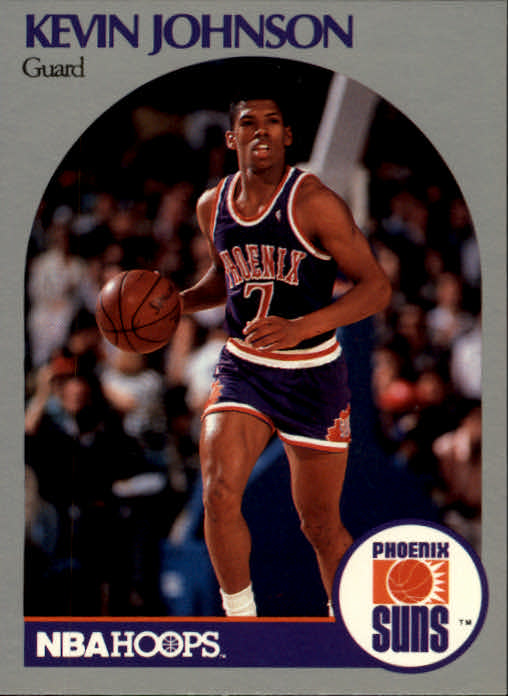 1990-91 Hoops #238A Kevin Johnson/(First series; Guard on front)