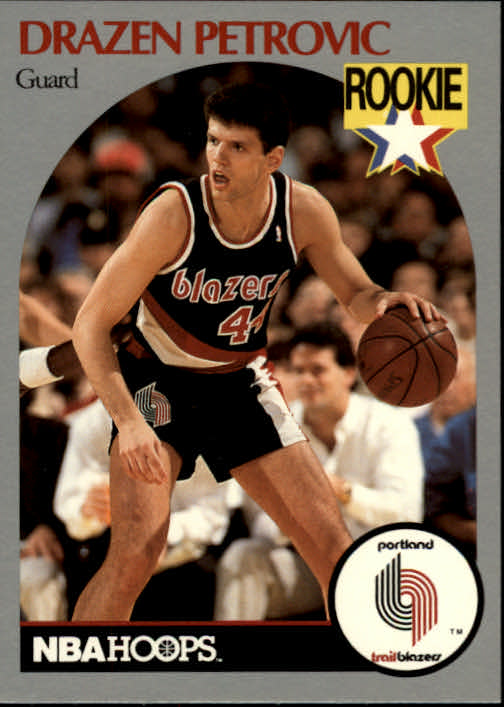 1990-91 Hoops #248 Drazen Petrovic RC
