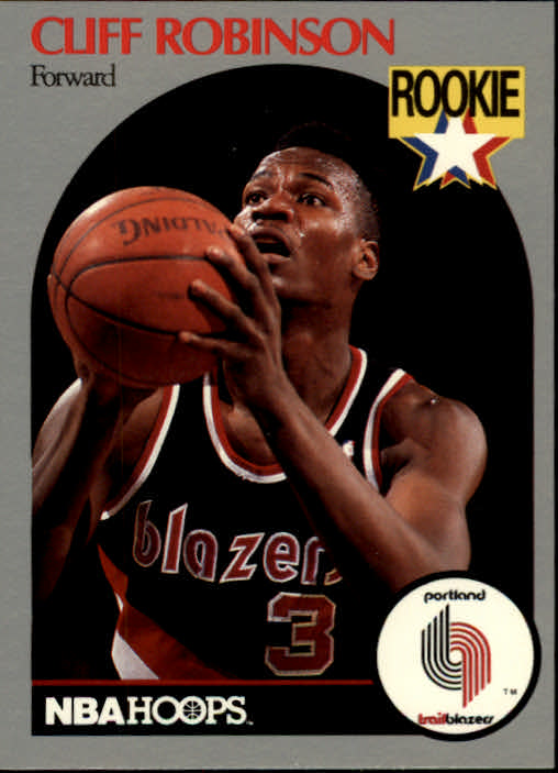1990-91 Hoops #250 Clifford Robinson RC