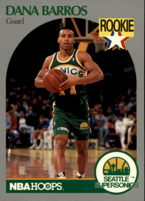 1990-91 Hoops #274 Dana Barros UER RC/(Born April, not March)