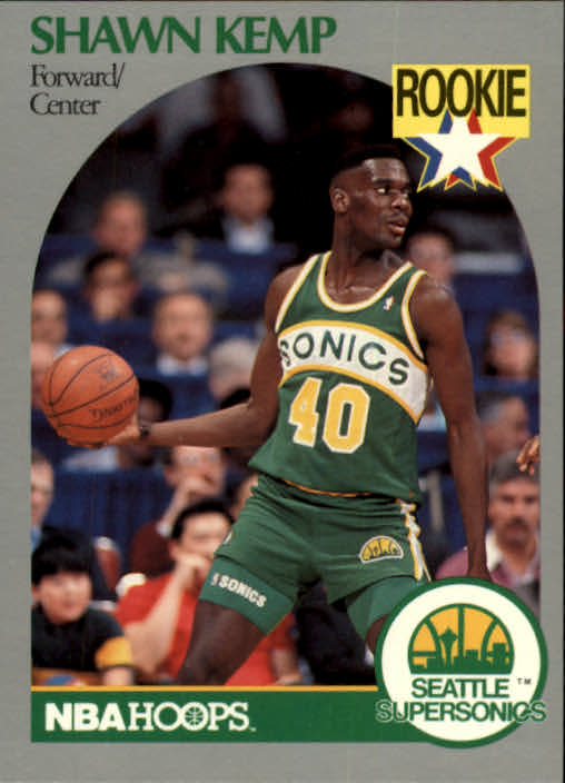 1990-91 Hoops #279 Shawn Kemp RC