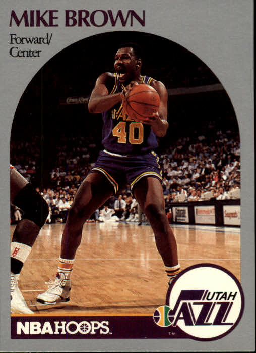 1990-91 Hoops #286 Mike Brown