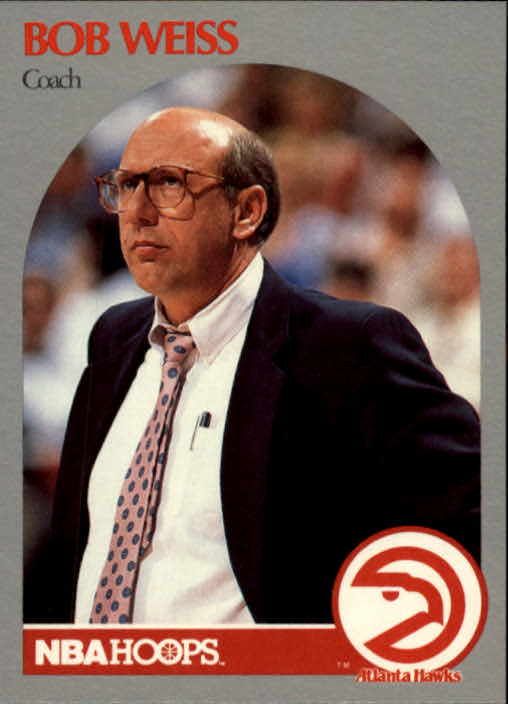 1990-91 Hoops #305 Bob Weiss CO front image