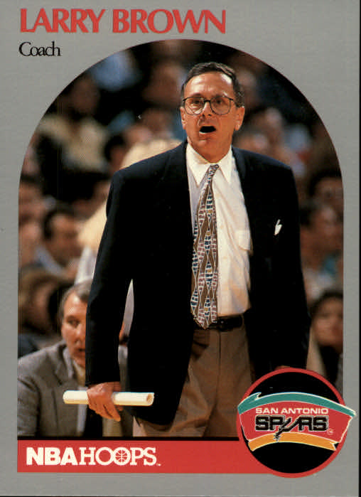 1990-91 Hoops #328 Larry Brown CO
