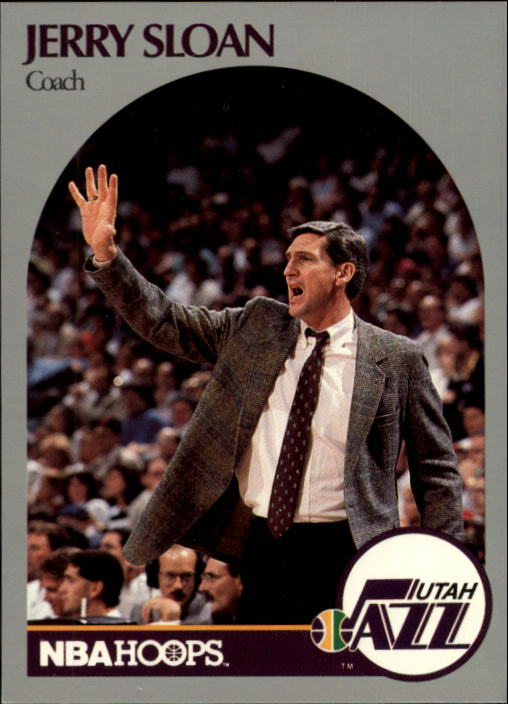1990-91 Hoops #330 Jerry Sloan CO