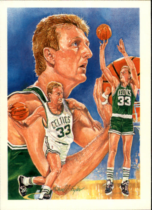1990-91 Hoops #356 Larry Bird TC front image