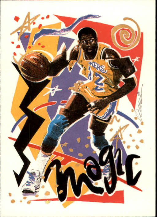 1990-91 Hoops #367 Magic Johnson TC UER/(Dunleavy listed as 439, should be 351) front image