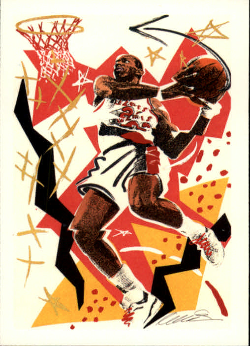 1990-91 Hoops #376 Clyde Drexler TC