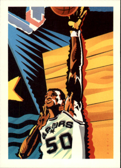 1990-91 Hoops #378 David Robinson TC/(Basketball fully visible)