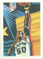 1990-91 Hoops #378B David Robinson TC/(Basketball partially visible)